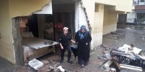 Ankara'da Sağanak Bir Evin Duvarını Yıktı