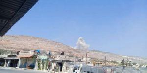 Rusya'dan İdlib'e hava saldırısı! İşte ilk görüntüler