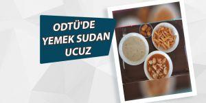 Orta Doğu Teknik Üniversitesindeki yemekler sudan ucuz