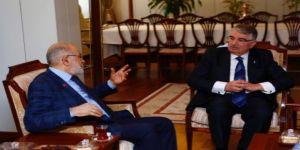 İdris Naim Şahin,Temel Karamollaoğlu'yla buluştu