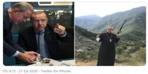 Ermenistan'ın silahlı papaz paylaşımı olay oldu
