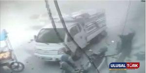 Elbab'ta bomba yüklü korkunç patlama