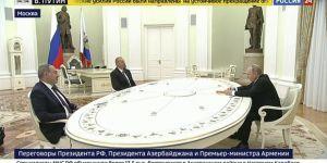 Moskova'da Aliyev,Paşinyan,Putin bir araya geldi