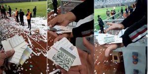 Ordu stad açılışında Kuran-ı Kerim sayfalarını kesip konfeti yaptılar