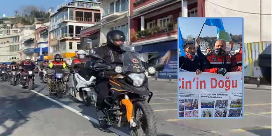 Osmanlı Motosiklet Kulübü Uygur Türklerini yalnız bırakmadı