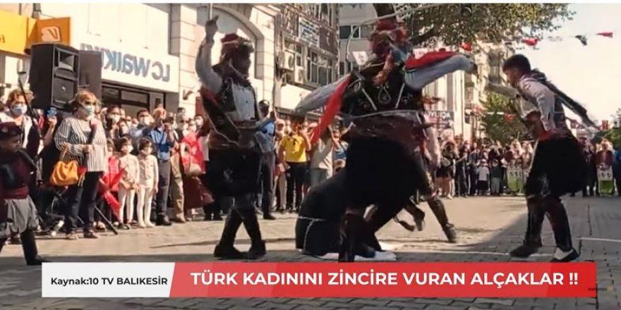Müslüman Türk Kadınını Zincire Vurdular !