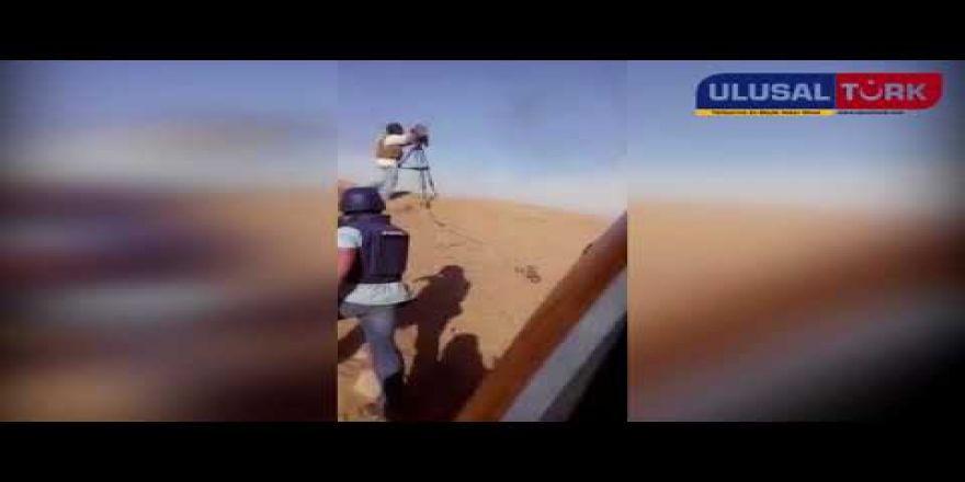 İsrail Ordusundan gazetecilerin üzerine göz yaşartıcı bomba