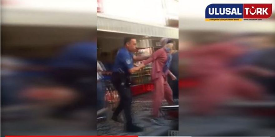 """""""Atatürk'ü Sevmiyorum"""" Diyen Kadına Polisin Şok Müdahelesi"""
